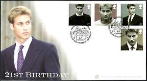 Gb 2003 Prince William 21st Anniversaire Fdc Limitée à Seulement 10 #c46485-afficher Le Titre D'origine