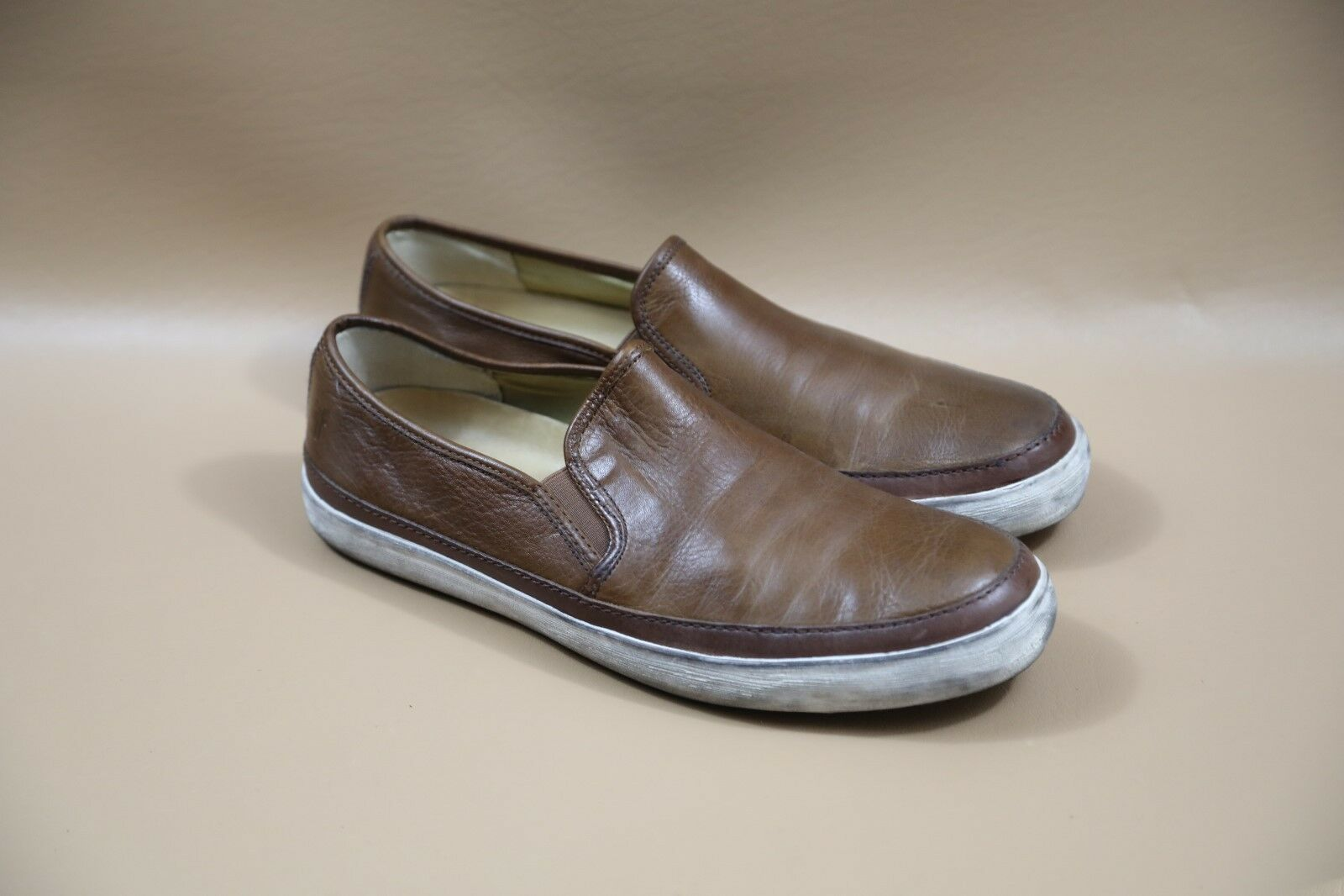 Frye Slip-On Leather Sneakers Size 10