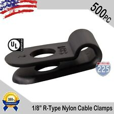 25 PACK 3//8 INCH CABLE CLAMPS NYLON NATURAL HOSE WIRE ELECTRICAL NEW NCC38