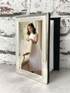 Image is loading Personalised-Silver-Photo-Albums-Gifts-Ideas-For-1st-