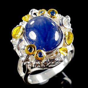 Handmade-Natural-Blue-Sapphire-925-Sterling-Silver-Ring-Size-7-75-R113323