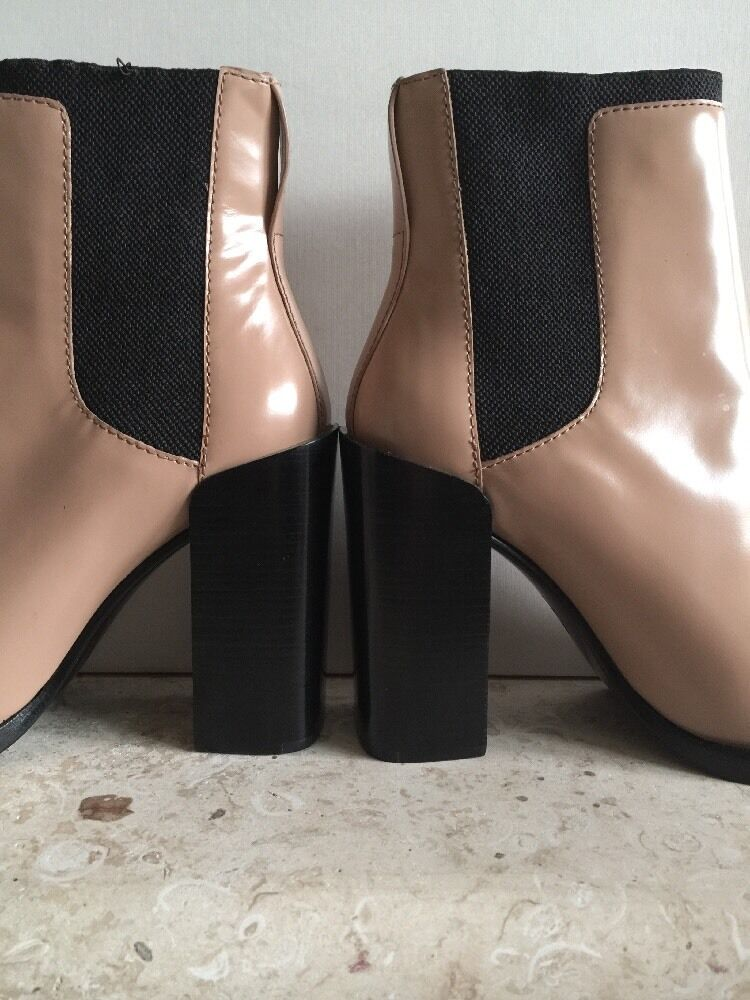 3.1 Phillip Lim Emerson Short Chelsea  Nude Leder Ankle Stiefel Booties Nude  schuhes37/7 2b11c9