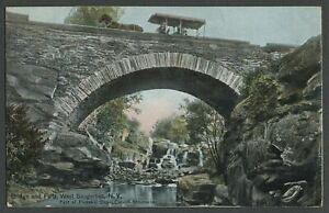 West-Saugerties-Ulster-Co-NY-c-1907-09-Postcard-Stone-Arch-BRIDGE-AND-FALLS