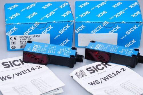 SICK WS//WE14-2P430  1026431 Einweg-Lichtschranke Sender Empfänger  NEU