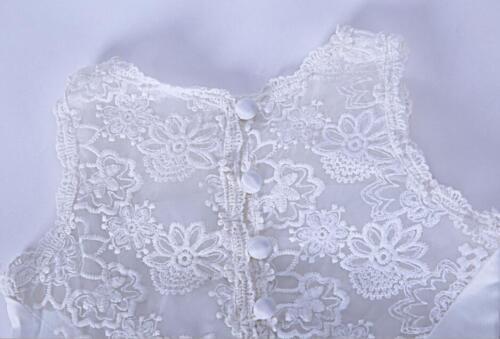 Girls White Holy Communion Dress Sleeveless Princess Wedding Pageant Christening