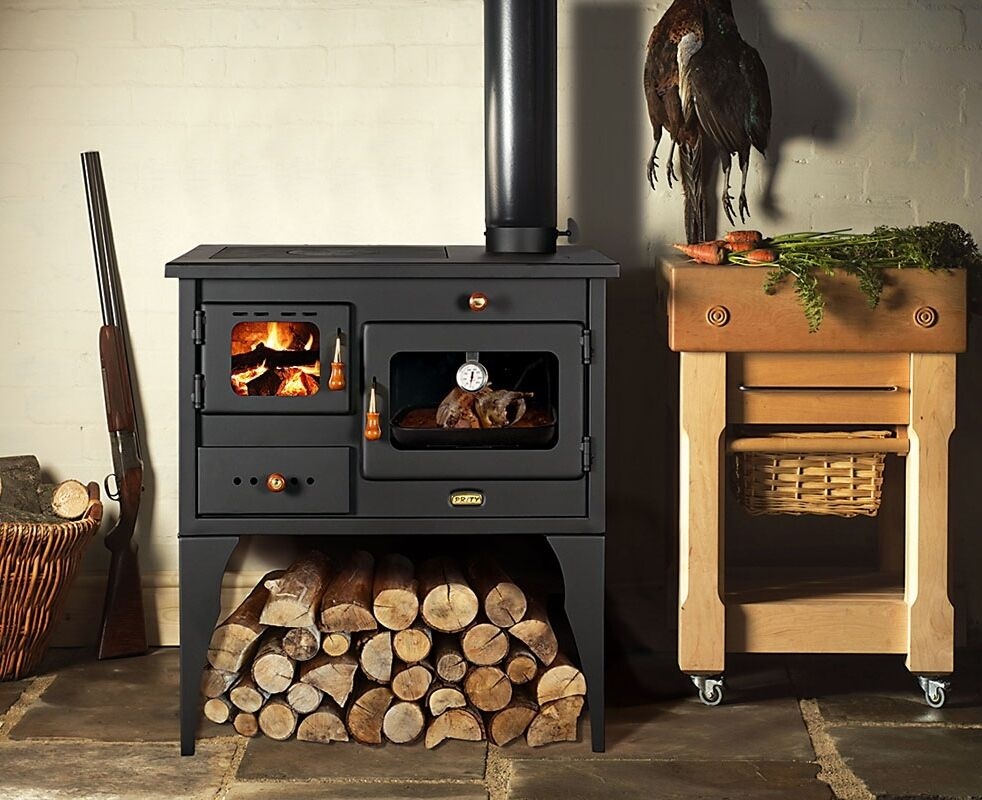 New10kw Cooking Woodburning Stove Legs Oven Cooker