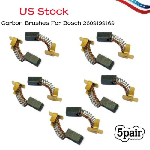 5 pair Carbon Brushes For Bosch 2609199169 GDS 18 14.4 V-LI battery impact US