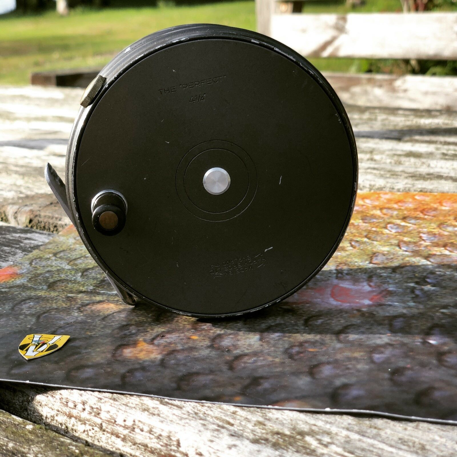 Rare Vintage Hardy Perfect 4 1/4 Inch Wide Body R H W Salmon Spey Fly Reel