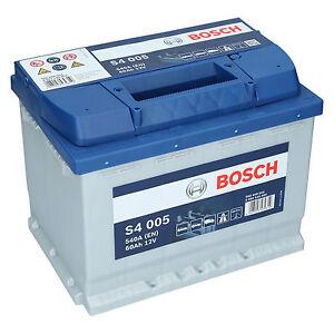 pkw autobatterie 12 volt 60 ah bosch s4 005 starterbatterie ersetzt 55ah 65ah ebay. Black Bedroom Furniture Sets. Home Design Ideas