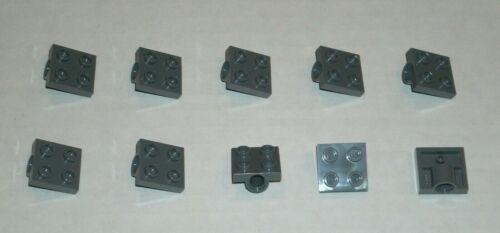 6047417 Brick 10247 LEGO NEW 2x2 Dark Stone Grey Plate Hole Underneath 10x