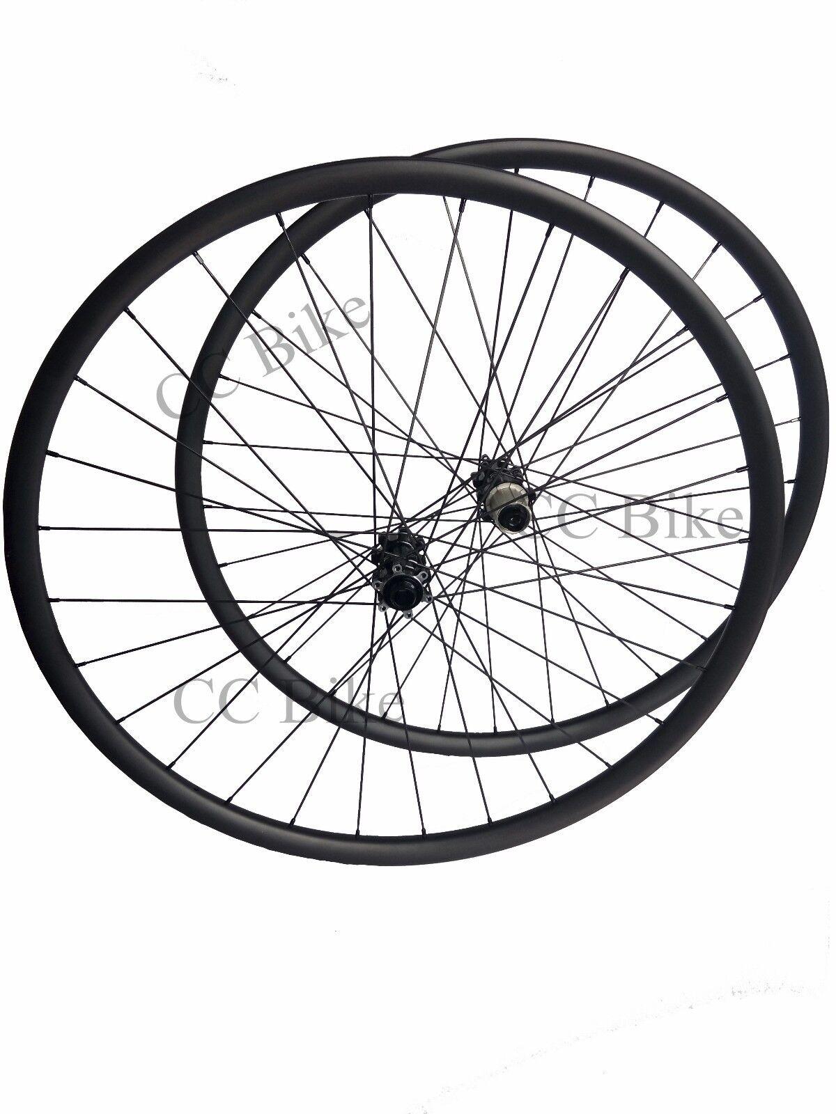 27.5er 27mm width Carbon MTB wheelset with powerway M32 straight hub MTB bike