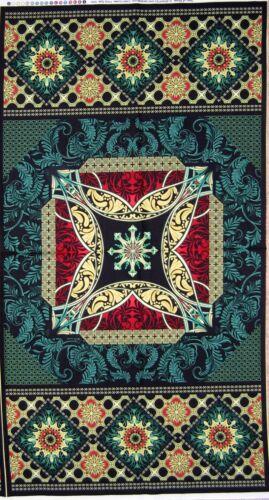 "23/"" Fabric Panel Star of Hope Christmas Medallion Wallhanging Benartex"
