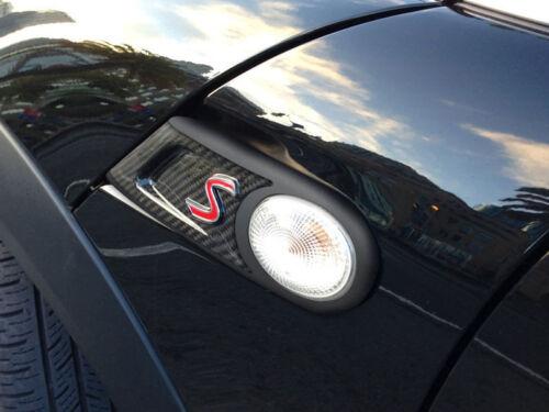 * Carbon Fiber Side Vent Winker Trim Cover For Mini Cooper S R55 R56 R57 R58 R59