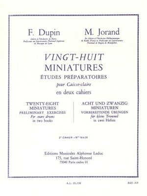 François Dupin Marcel Jorand 28 Miniatures Snare Drum Percussion Music Book 2 Percussion