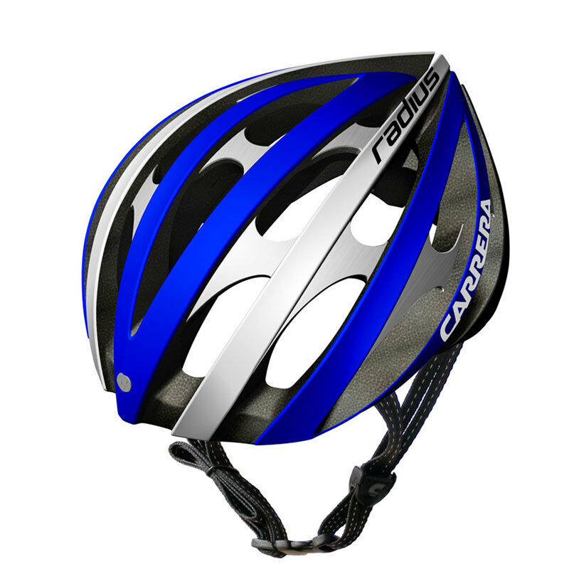 CARRERA RADIUS HIGH QUALITY ROAD BIKE BICYCLE HELMET 54-57cm blueeE AND WHITE