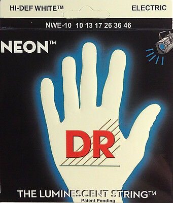 DR Handmade NWE-10 Neon White Electric Guitar Strings 10-46