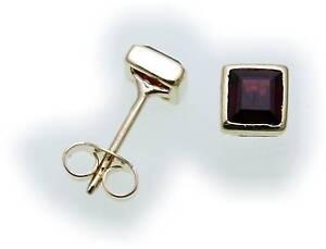 Damen-Ohrringe-m-Granat-in-Gold-333-Granatohrringe-Gelbgold-Ohrstecker-6893-3GR