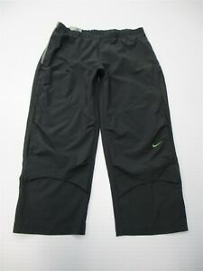 NIKE-Women-039-s-Size-S-FIT-DRY-Stretch-Twill-Gray-Zip-Front-Running-Capri-Pants