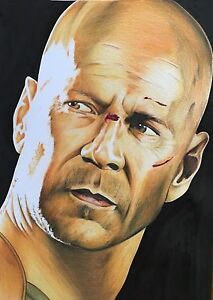Bruce-Willis-Die-Hard-Original-Pencil-Drawing-Fan-ART-A4