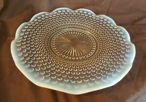 Anchor-Hocking-Moonstone-Hobnail-Opalescent-Round-Platter-Serving-Tray