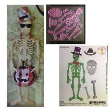 Skeleton 8 PC Metal Die Cheery Lynn Cutting Dies B836 Skull Bones Halloween