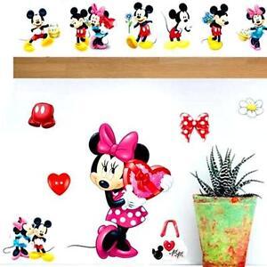 Details Zu Neues Wandsticker Wandtattoo Kinderzimmer Disney Minnie Maus Aufkleber
