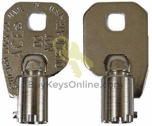 CLC332-Key-Chicago-Lock-ACE-Tubular-Barrel-NEW-PRECUT-FACTORY-CUT-SHIPS-FAST