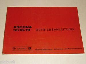 Instrucciones-Servicio-Manual-Opel-Ascona-a-12-16-19-Stand-04-1975