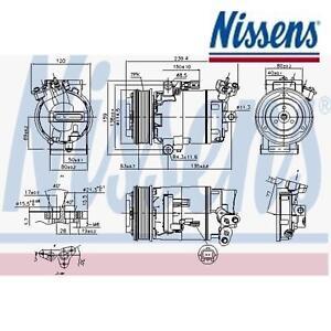 Klimakompressor Kompressor Klima NISSENS 890015