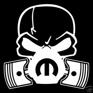 Skull Dodge Mopar Mask PistonV Vinyl DecalSticker CarTruck - Decals and stickers for cars