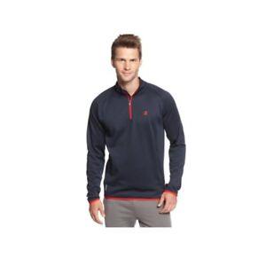 Champion Jacket Men Fleece Pullover Quarter Zip Performance Wicking Light Weight