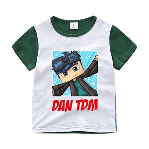 Dan TDM Minecraft Kid's Unisex T-Shirt Size 3-12 Boys Girls AU Shop