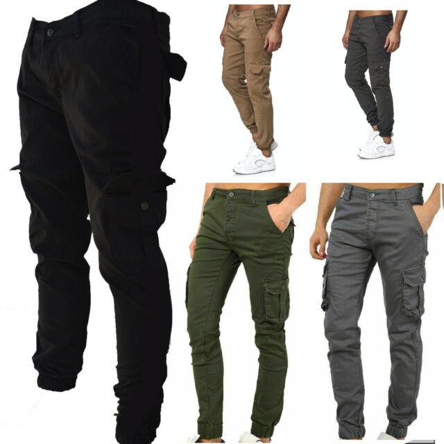 Jogger Chino Hose Stretch Sweat Regular Freizeit Camouflage Herren OZONEE O//705X