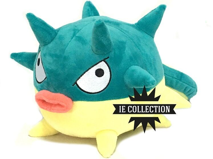 POKEMON QWILFISH 30 CM SOFT TOY snowman 211 Baldorfish plush doll go puffer fish