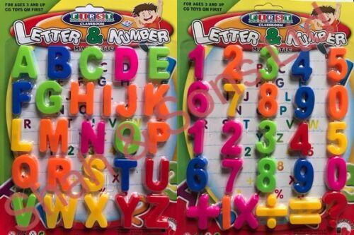 Imparando l'insegnamento Magnetico Alfabeto Lettere Numeri Simboli Frigo Promemoria
