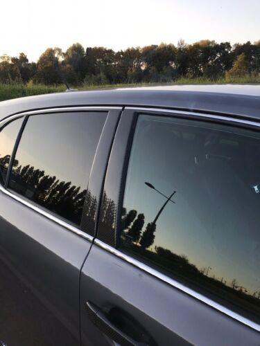 Fits Lexus CT 2011-2016 Real Carbon Fiber Black Window Pillar Posts 6PCS