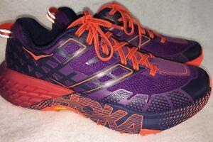5736acdd8001 Hoka One One Speedgoat 2 Women s Trail Running Shoes Plum   Peacoat ...
