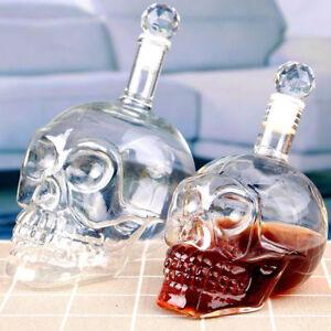 4-Size-Crystal-Skull-Head-Vodka-Shot-Whiskey-Wine-Drinking-Glass-Bottle-Decanter