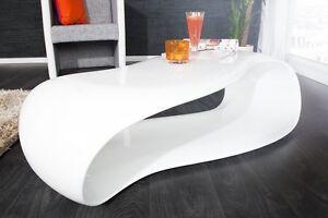 Table Basse Blanc Rétro Table Basse Gravity 110cm Design Salon Table ...