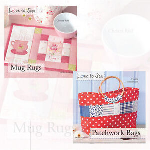 Details About Love To Sew Collection 2 Books Mug Rugs Patchwork Bags