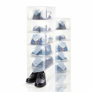 Schuhbox Schuh Organizer Schuhschrank transparent  Schuhaufbewahrung Schuhkarton