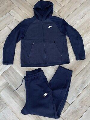 Nike Tech Fleece Tracksuit Men S Size Large Colour Block Blue Hoodie Joggers Ebay