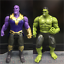 2Pcs 6/'/' Marvel Avengers 3 Infinity War Movable Joints Thanos Hulk Action Figure