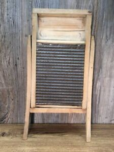 Antique-Badger-Woodenware-Washboard-1331-Wash-Board-F3