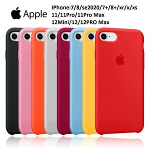 Coque Silicone pour Apple iPhone 11 12 pro max 7 8 plus Se2020 xs xr