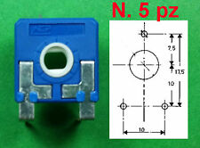 Trimmer Carbone 4,7 K ISKRA 6x6 Regolazione Orizzontale n.5 pz
