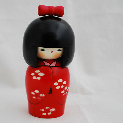 Japanese Kokeshi Doll - Authentic - Handmade in Japan - Flower Bud
