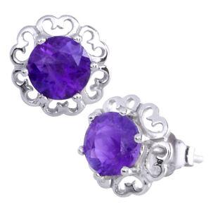 NEW AMETHYST /& CZ HEART .925 Sterling Silver Earring /& Pendant Gift Set