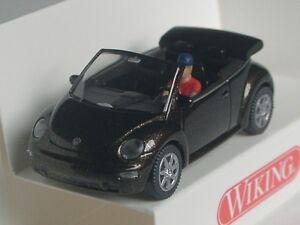 #002802 Wiking VW the beetle convertible-toffeebraun metallic 1:87