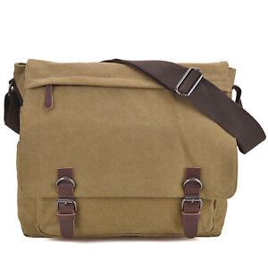 1b26cc65b Details about Dasein Men Handbag Vintage Unisex Large Canvas Messenger  Bag/Cross body Bags